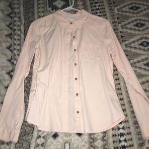 Light pink long sleeve button up shirt